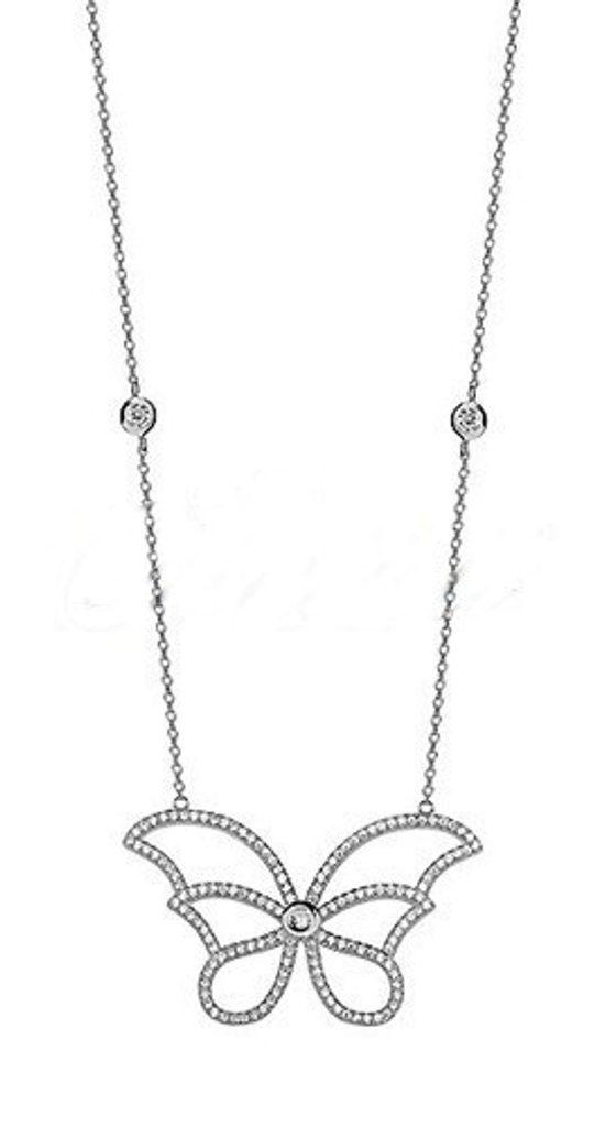 Stříbrný náhrdelník Motýlek