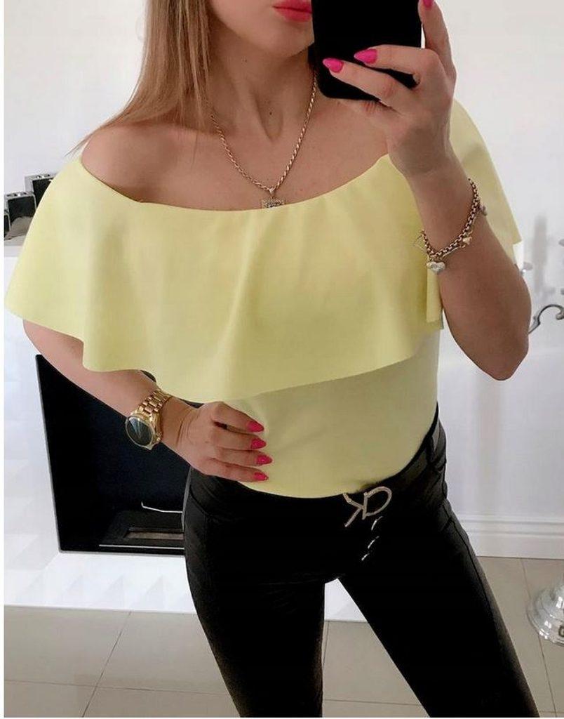 Dámský top s volánkem - UNI (S-L)  Yellow