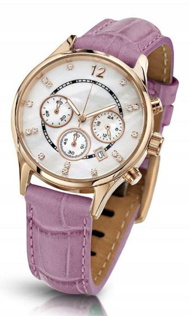 Oslnivé hodinky Geneva Pearl Swarovski zlaté - pink