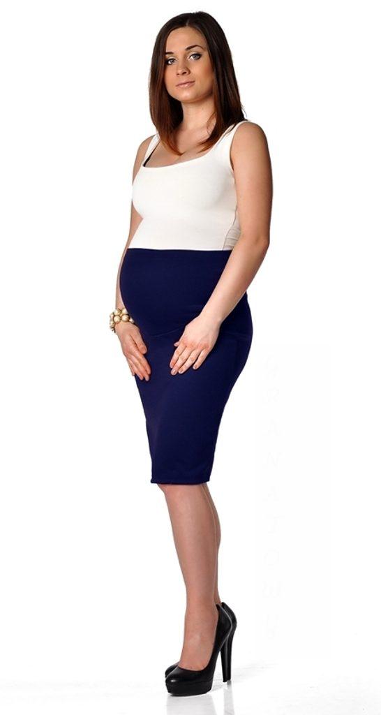 Dámská těhotenská sukně - Granat  S/M