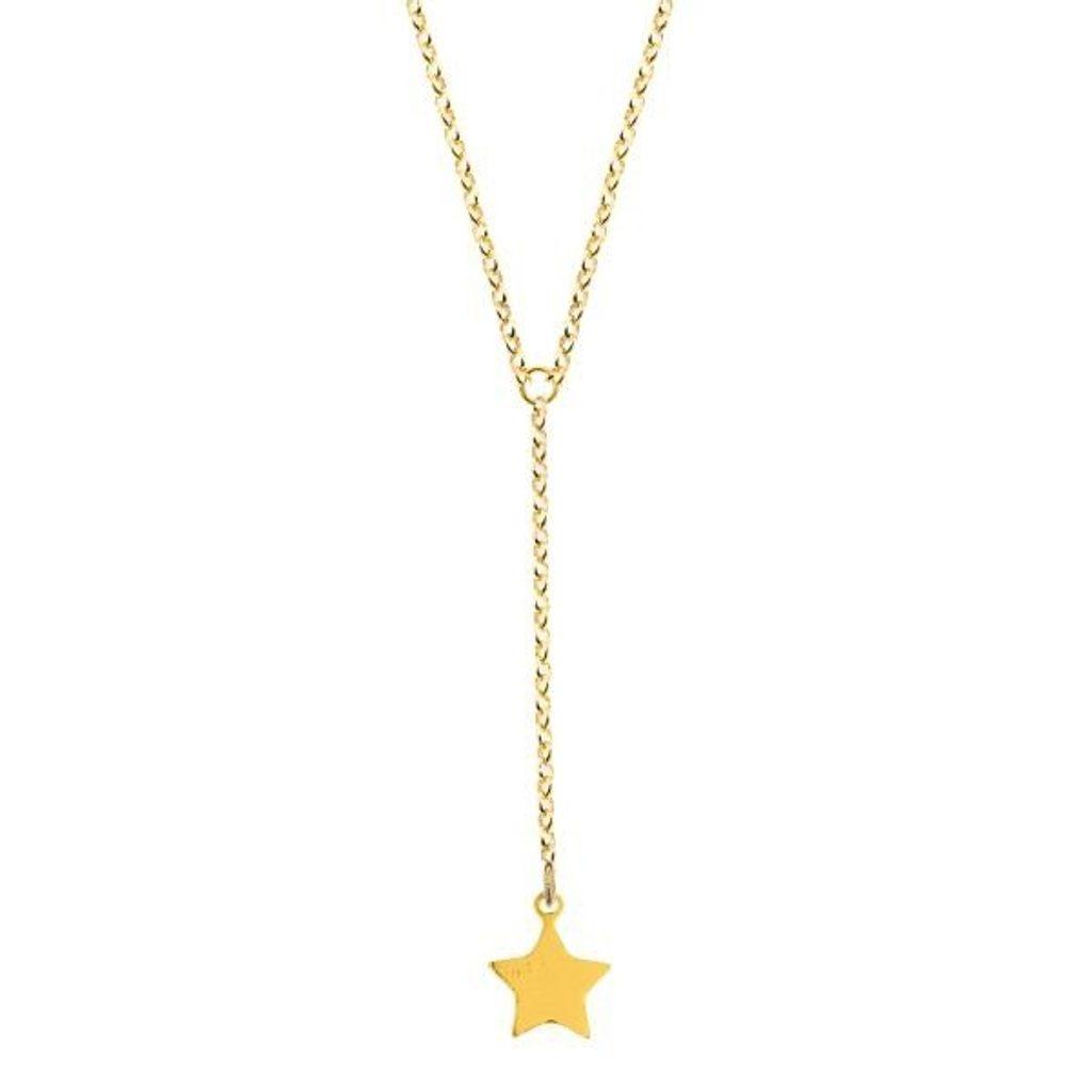 Stříbrný pozlacený náhrdelník hvězda