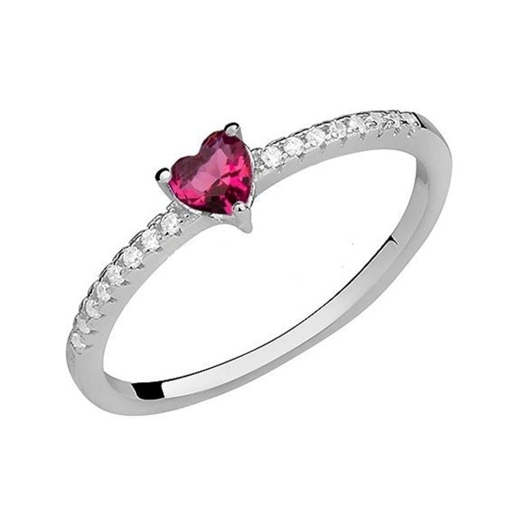 Stříbrný prsten Fatimia se Swarovski Elements Zirkonia - rubín - 53 mm