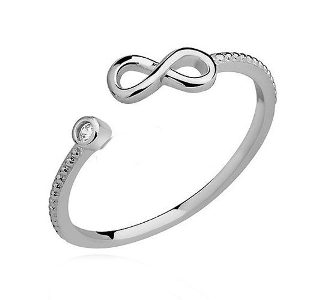Stříbrný prsten Eugenia se Swarovski Elements Zirkonia - 49 mm