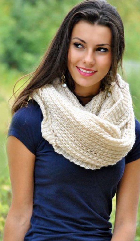 Hřejivá pletená šála - Beige