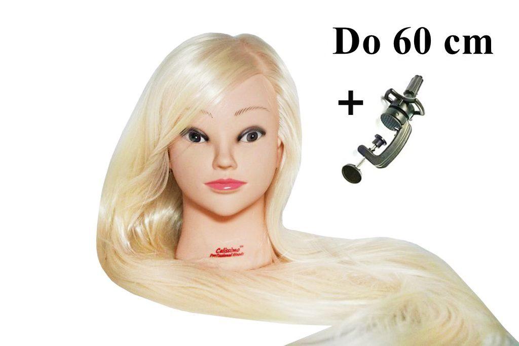 Česací hlava Locika k prodlužování vlasů, střihy, účesy + stojan ZDARMA! Až 60 cm!