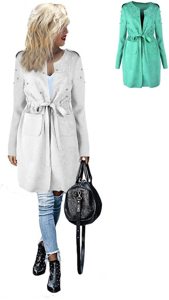 Luxusní kabátek s perličkami - UNI (S-XL)
