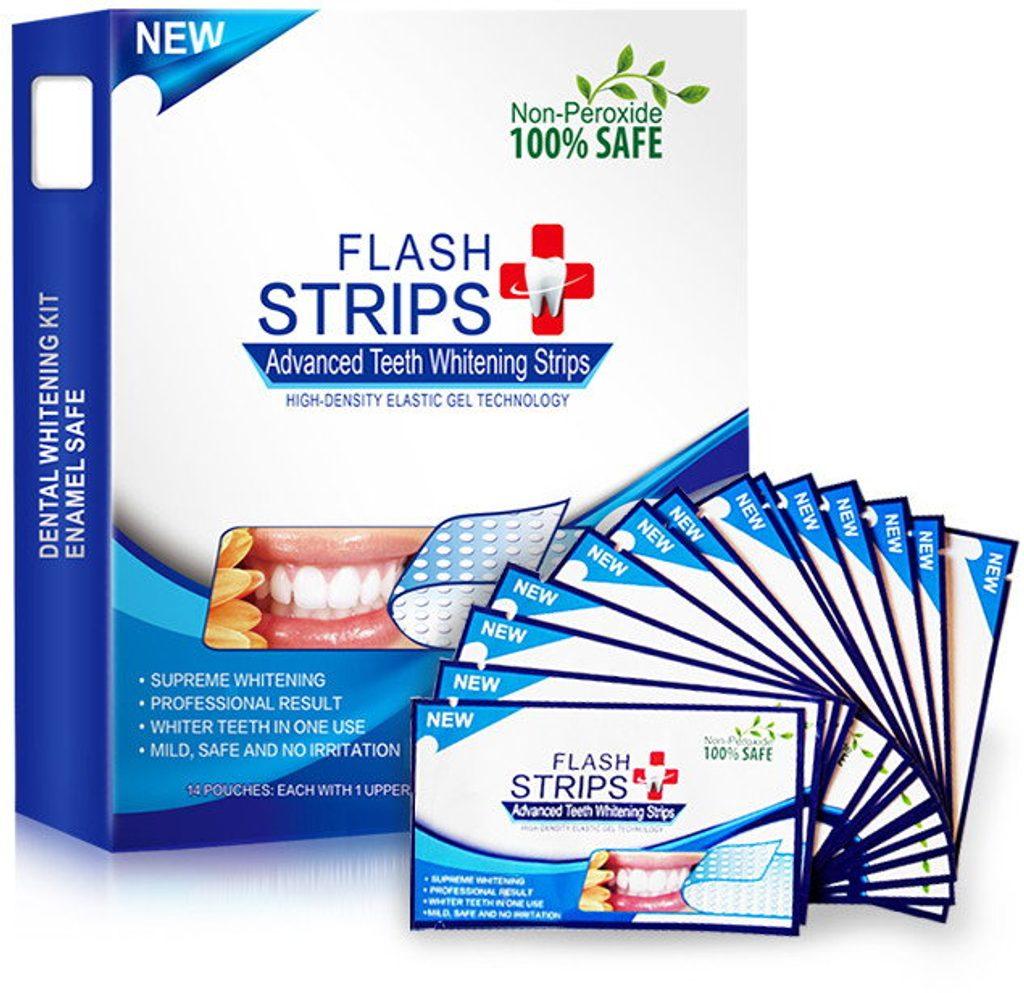 Bělící pásky FLASH STRIPS - 14 denní péče