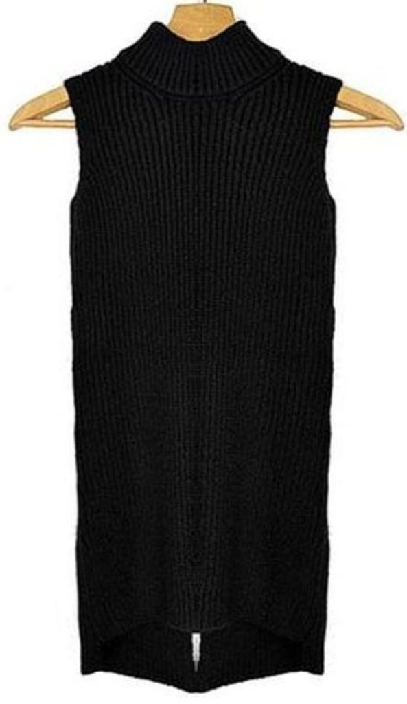 Dámský pletený rolák - UNI (S-L)  Black