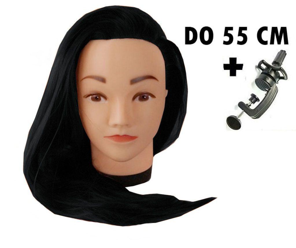 Cvičná hlava Lana k prodlužování vlasů, střihy, účesy + stojan ZDARMA!