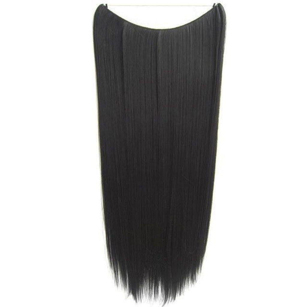 FLIP IN vlasy - 100% Lidské vlasy k prodloužení REMY, černá