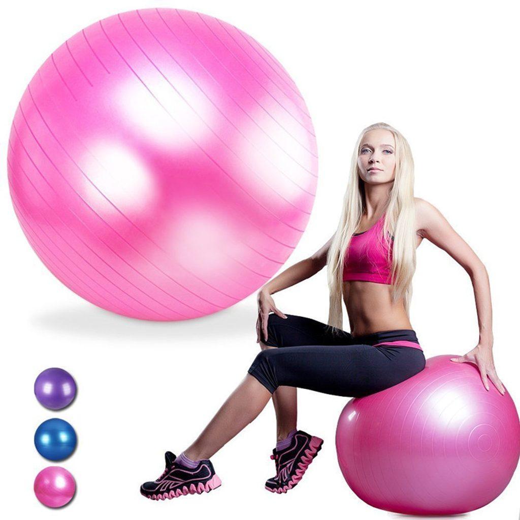 Gymnastický míč Forte Fit 65cm - fialový
