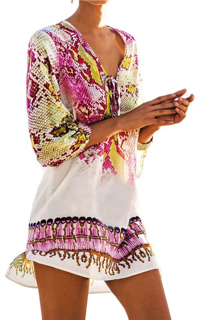 Nádherná letní tunika - pink - S/M