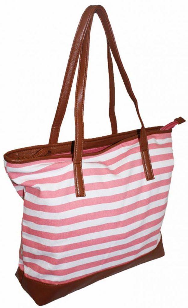 Dámská letní prostorná kabelka - pink