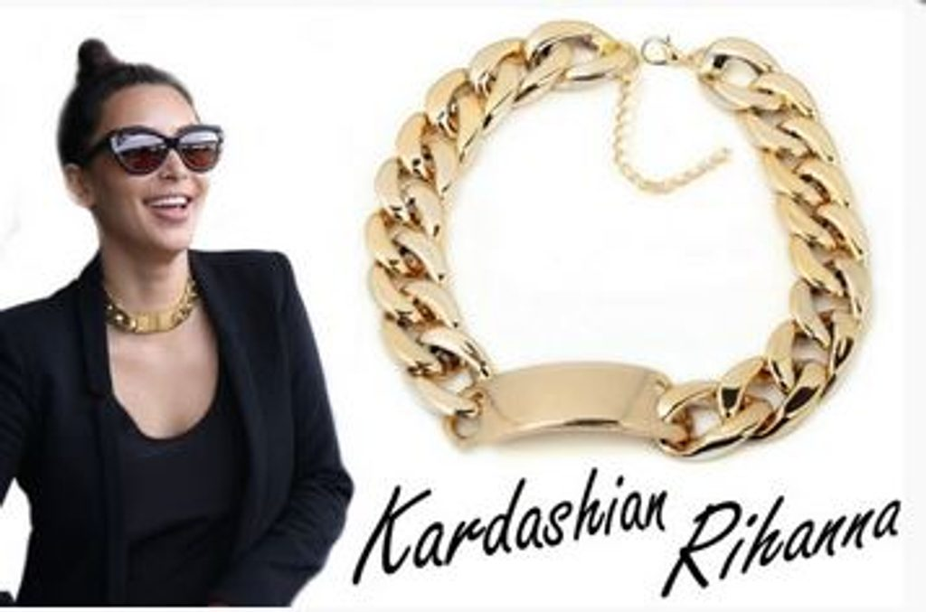 Exkluzivní řetízek ve stylu J.Lo, Rihanna, Kim Kardashian