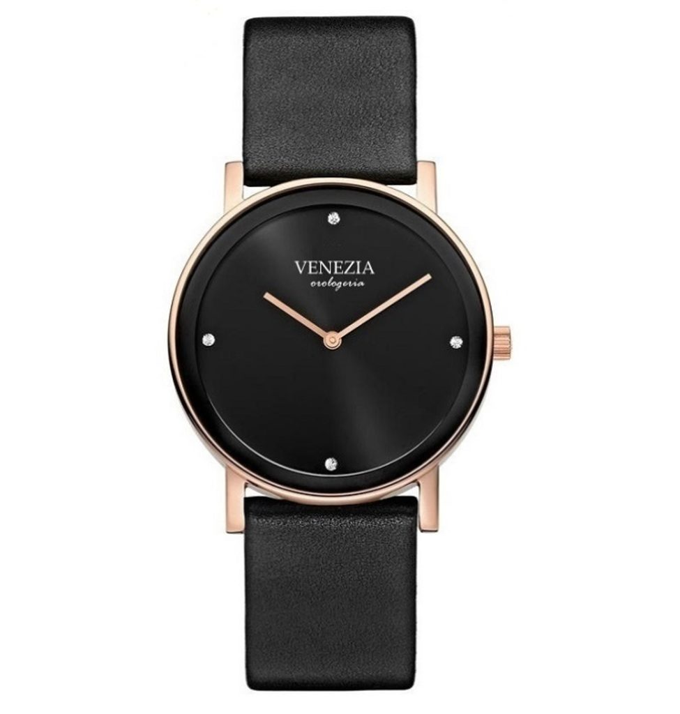 Luxusní elegantní hodinky VENEZIA Elegance - black/gold