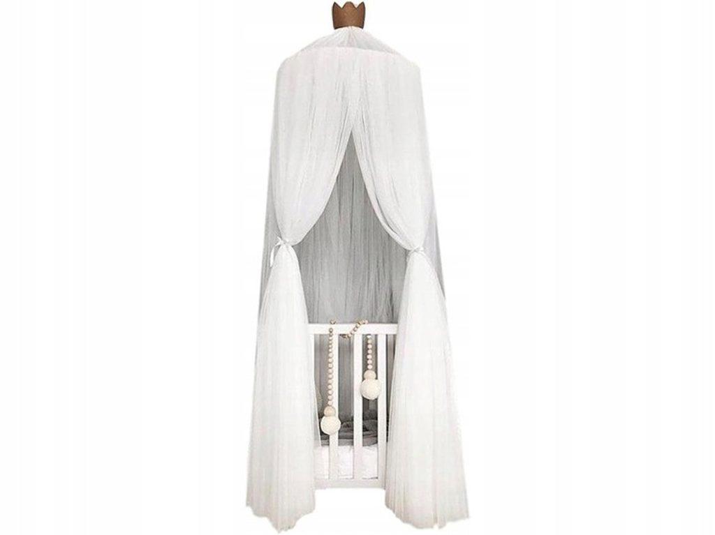 Luxusní nebesa nad postel (extra hustá) - bílá