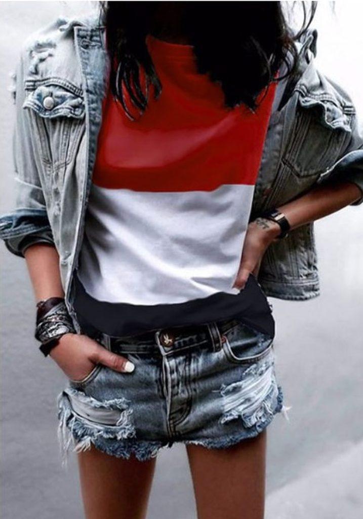 Dámské stylové triko - UNI (S-L)