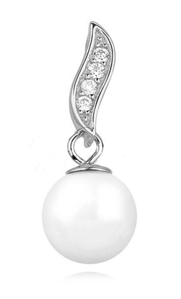 Stříbrný přívěsek Perla s kamínky Swarovski Elements Zirconia