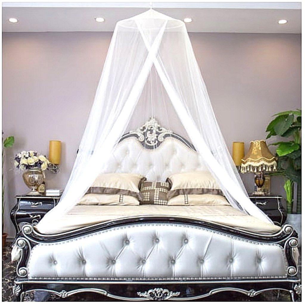 Luxusní otevřená nebesa XXL - bílá