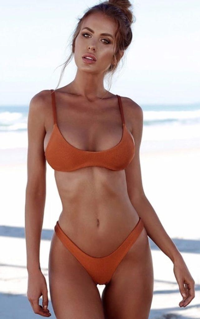 Dámské plavky Brazilky - orange - S/M