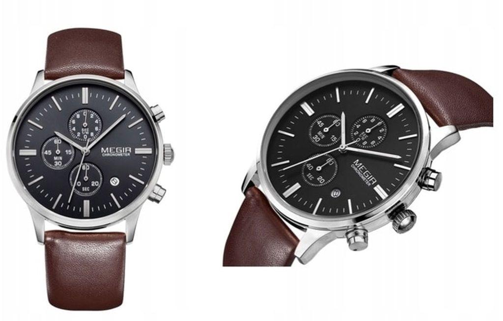 Nový model stylových pánských hodinek MEGIR Chronograph TLW11 - brown/silver