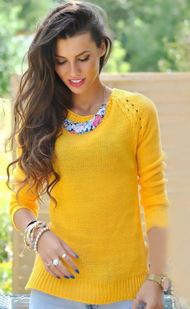 Dámský pletený svetr - UNI (S-L)