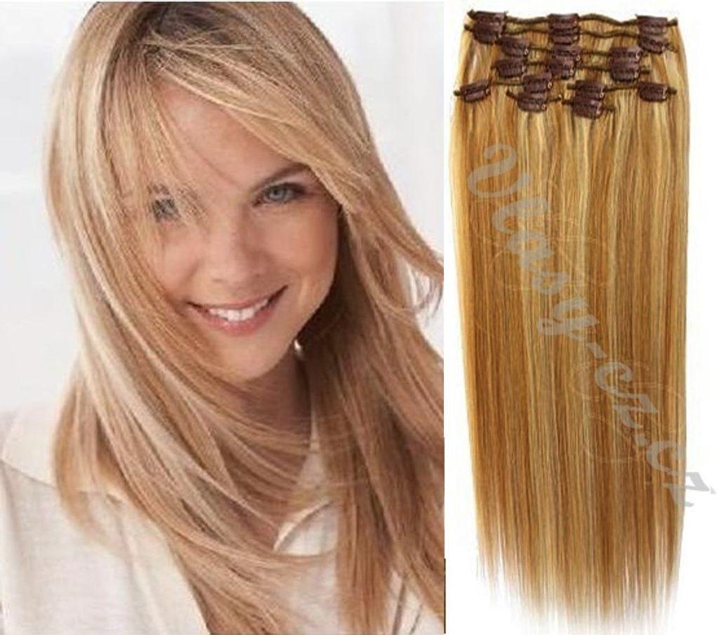 CLIP-IN- 100% Lidské vlasy k prodloužení REMY, melír 12/613- 40cm