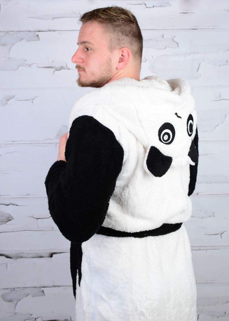 Plyšový pánský župan Panda z mirofibrálního vlákna - absolutní HIT! - S