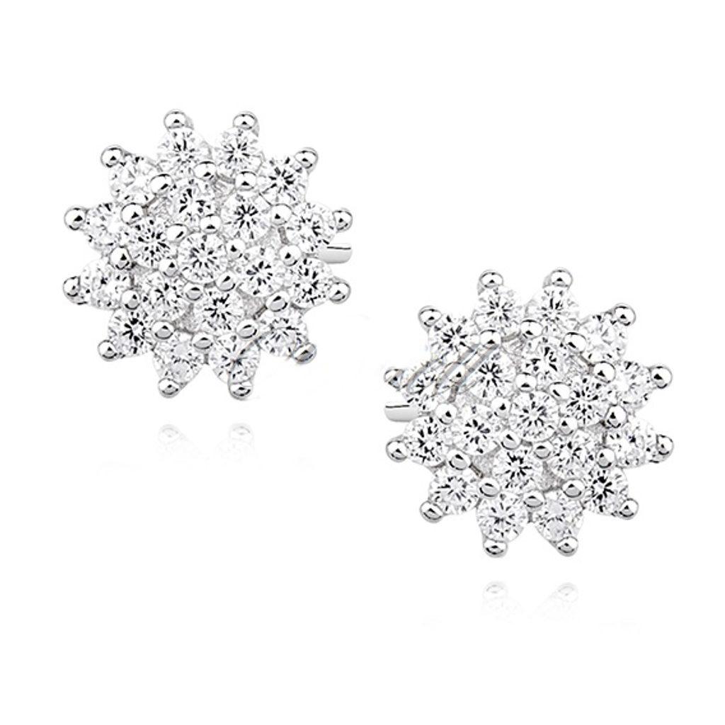 Sříbrné naušnice - květy
