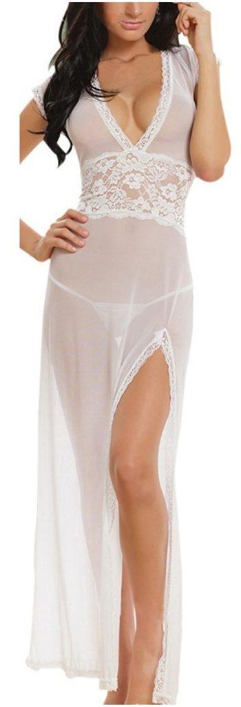 Exkluzivní dlouhá košilka - UNI (S-L)  White