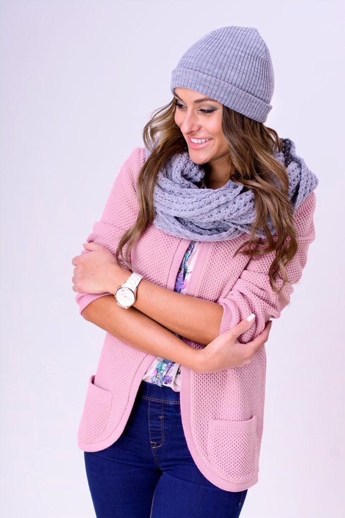 Dámský luxusní kardigan - pink - S/M