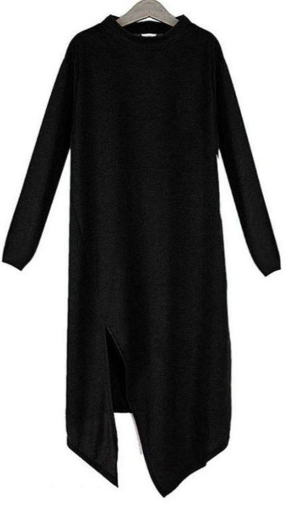Dámská asymetrická tunika - UNI (S-L)  Black