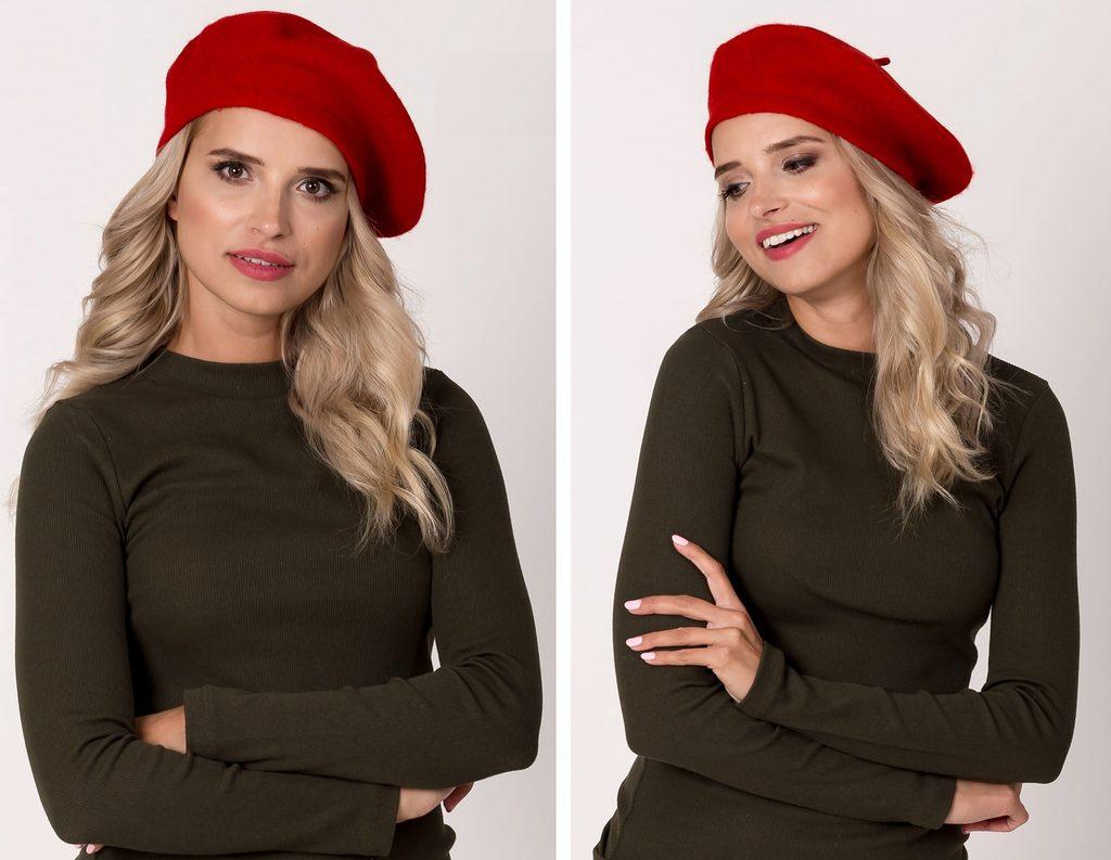 Dámská stylový baret - red