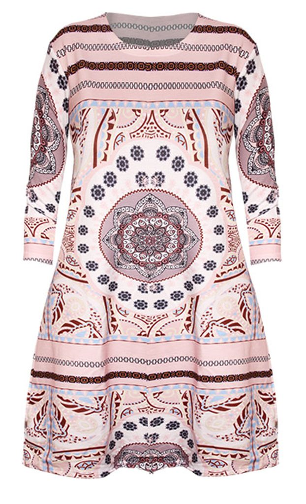 Šaty s aztéckými vzory - UNI (S-L)