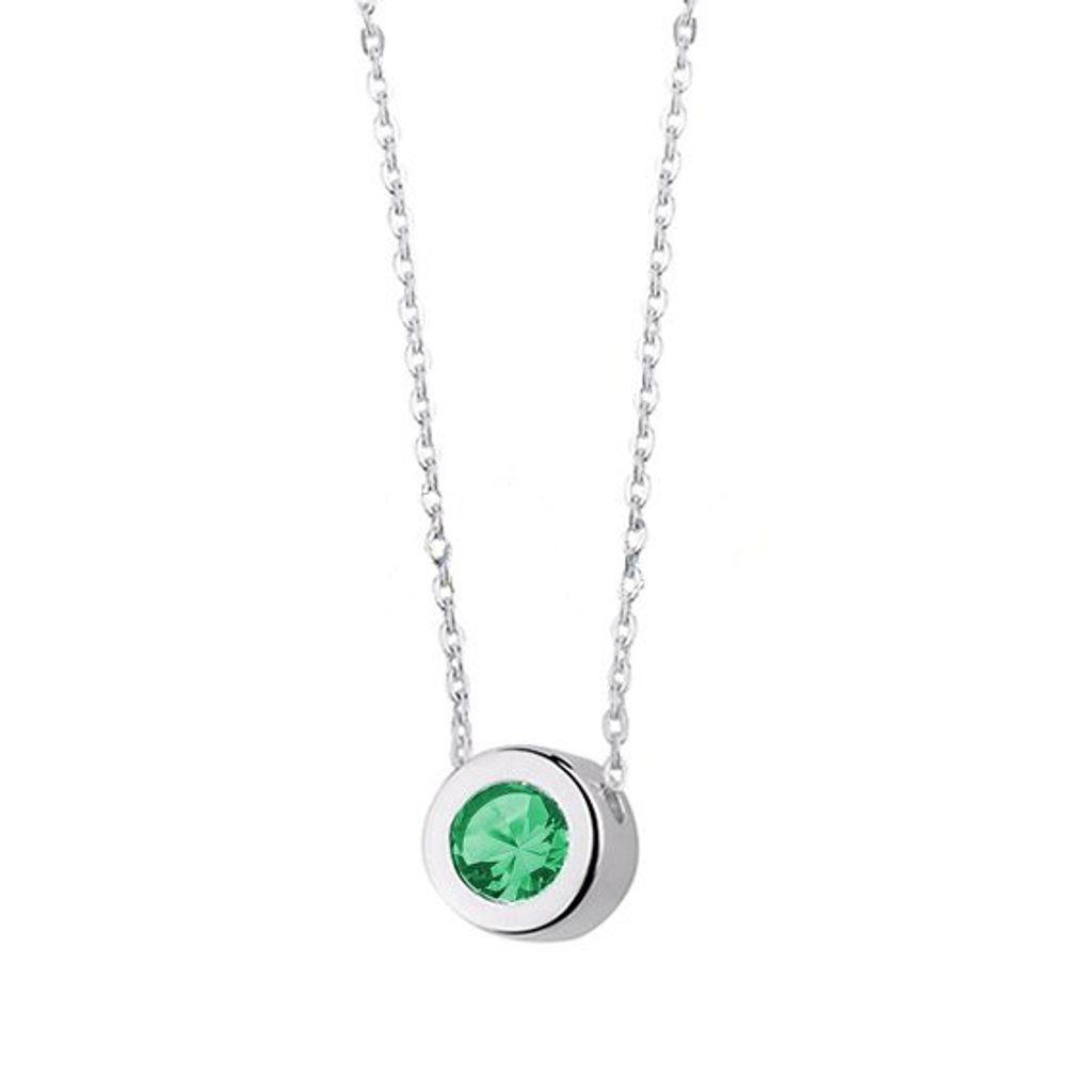 Stříbrný náhrdelník Brittie - Smaragd