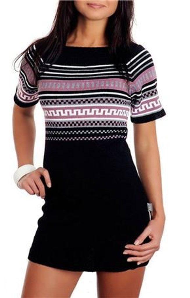 Dámské pletené šaty - black - UNI (S-L)