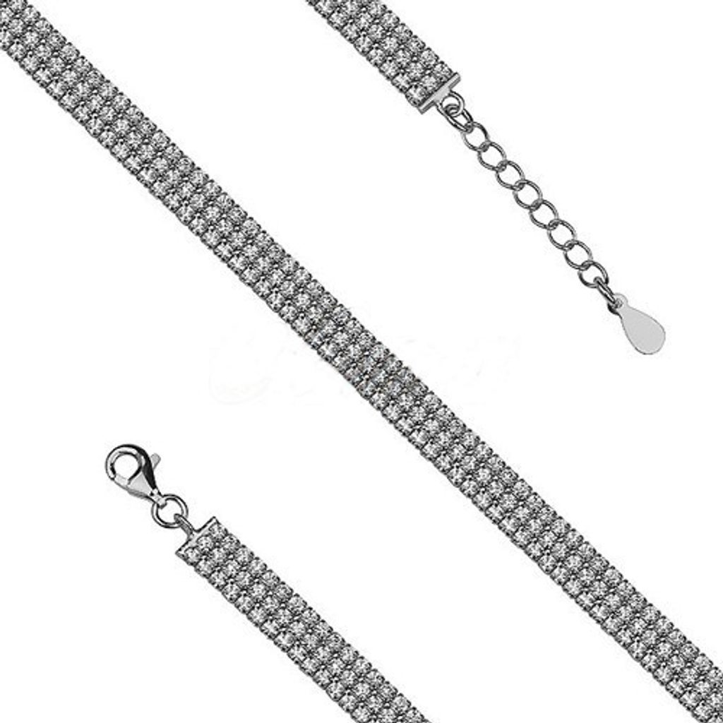 Stříbrný náramek Serena - 18-22 cm