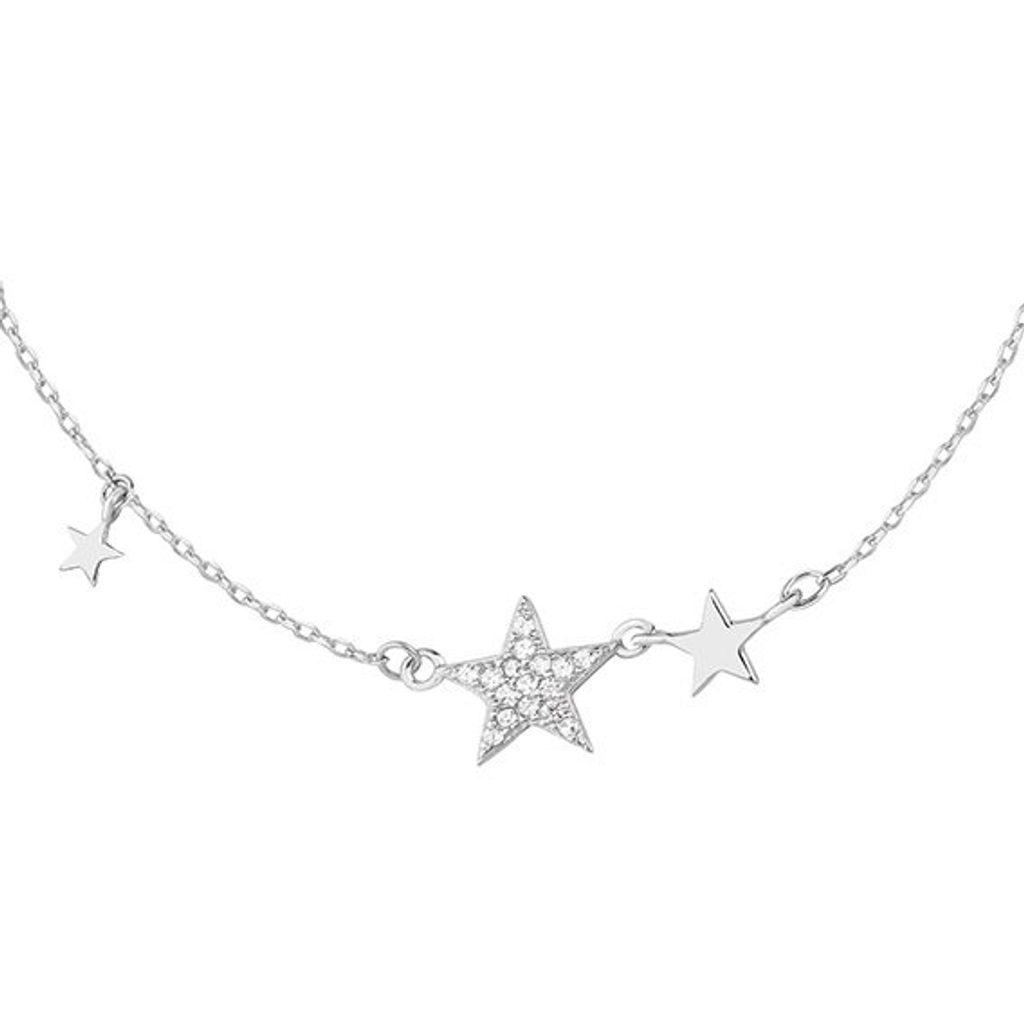 Stříbrný náhrdelník hvězdičky