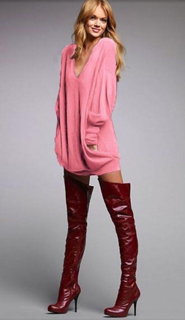 Dámská oversize tunika - UNI (S-L)  Pink