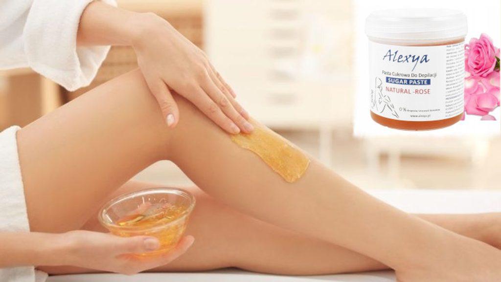 Přírodní depilační cukrová pasta Alexya - 300g - Rose