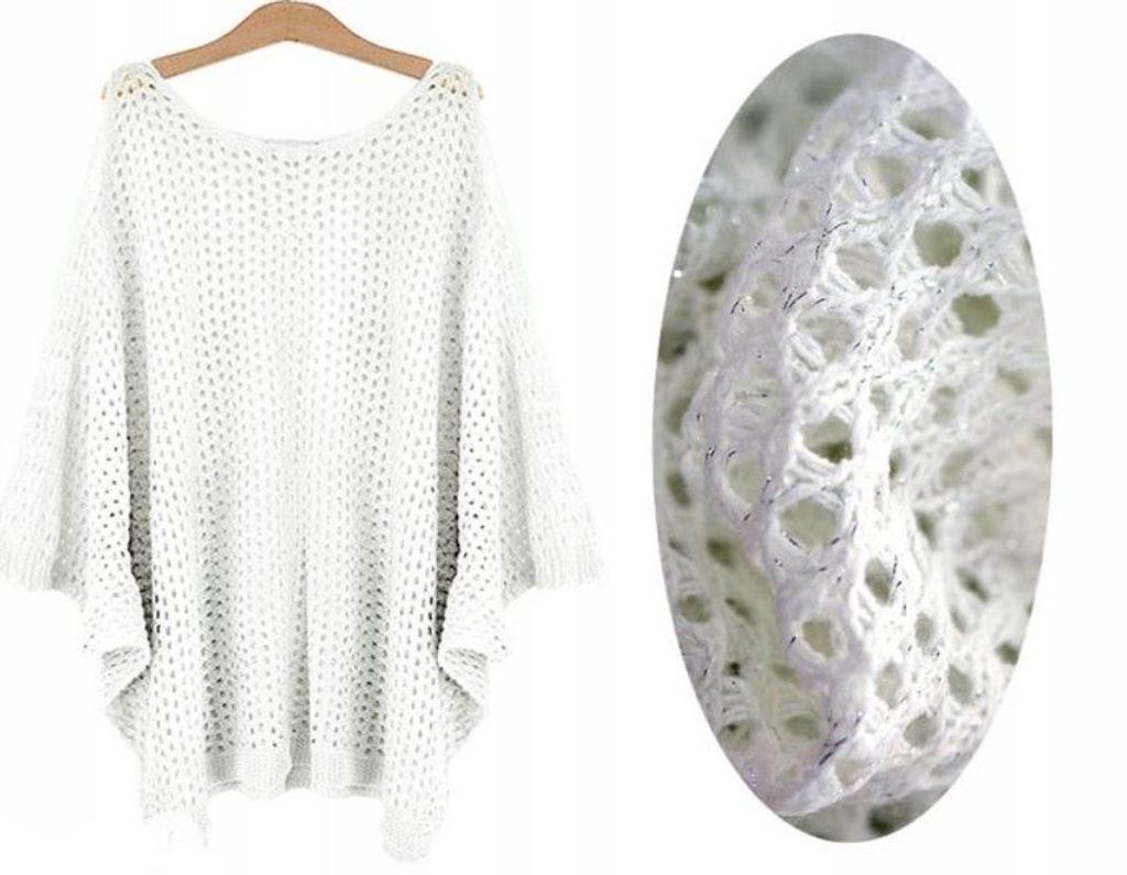 Dámský luxusní svetřík - UNI (S-L)  White