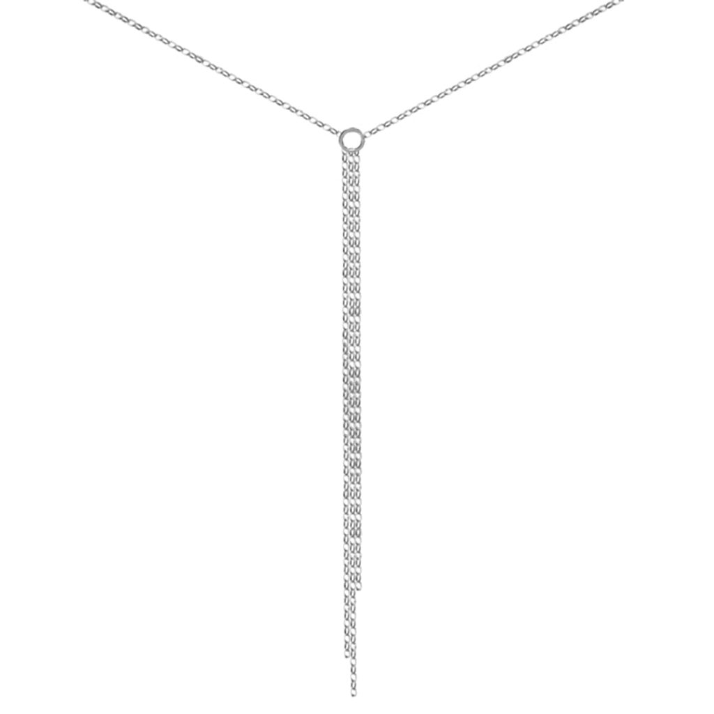 Stříbrný jemný náhrdelník Sara - 38 cm