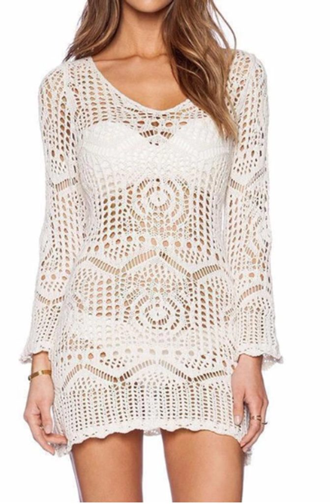 Dokonalá krajková tunika - UNI (S-L)  White