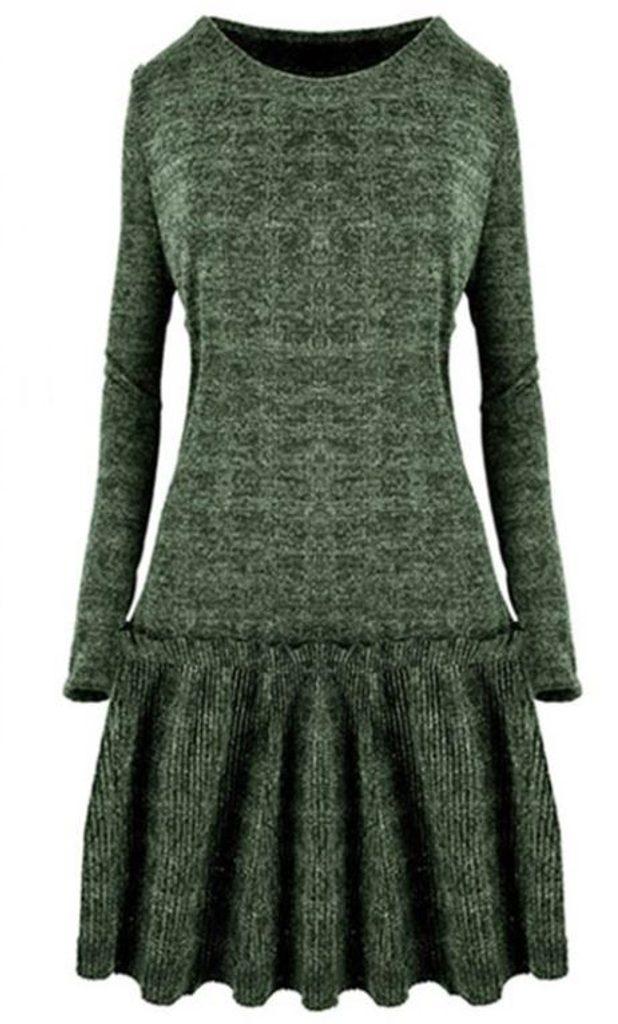 Dámské úpletové šaty - UNI (S-L)  Green