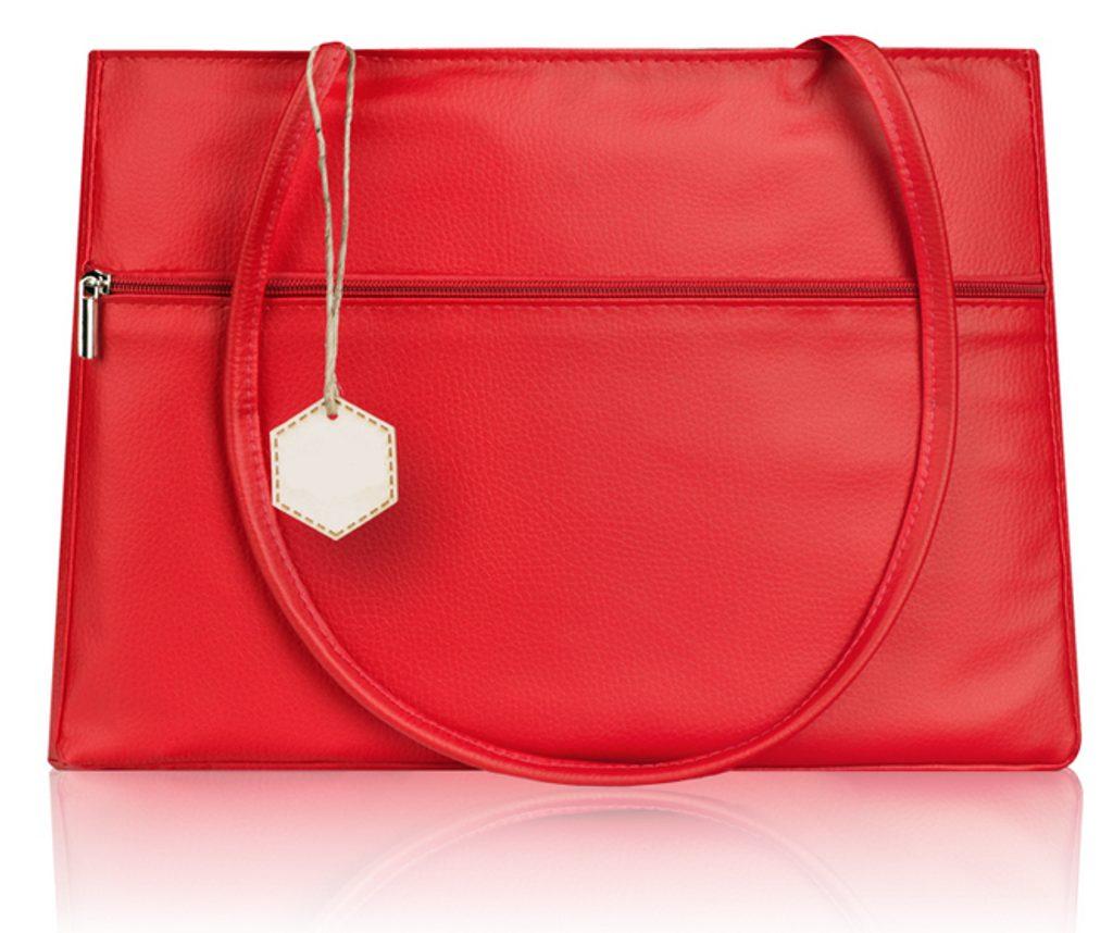 Elegantní kabelka do ruky v jemném provedení KOKO - červená