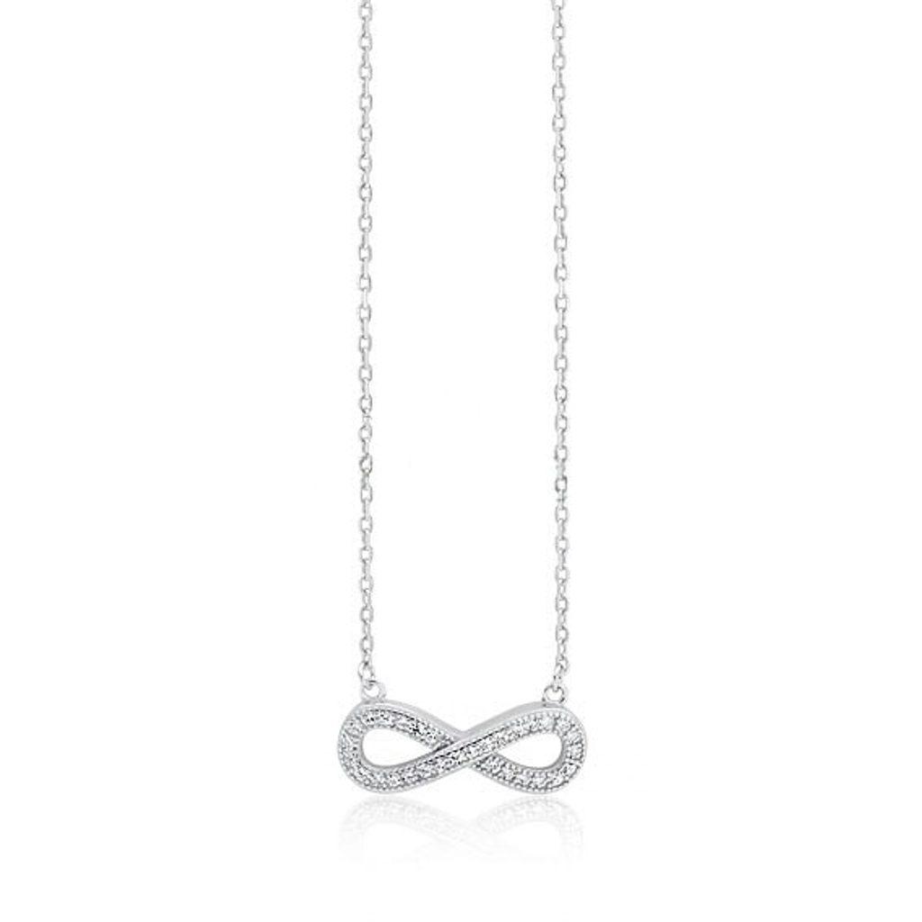 Stříbrný náhrdelník Nekonečno Zirkone