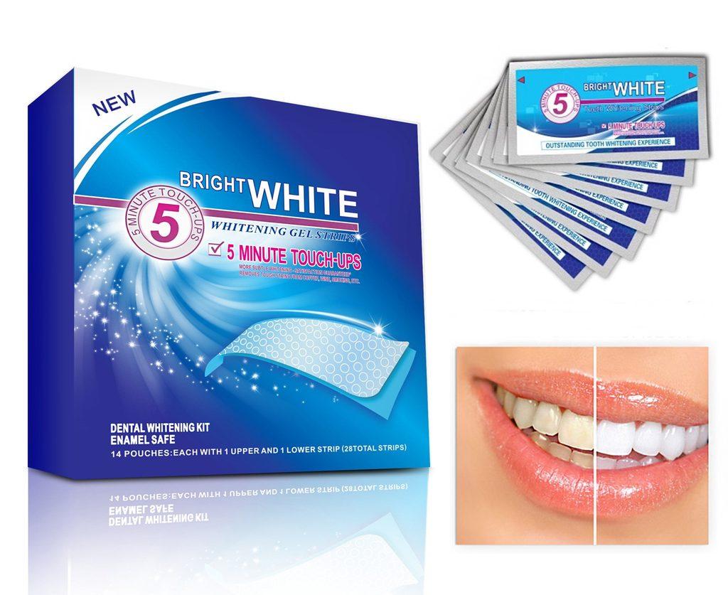 Domácí bělení zubů- originál bělící pásky Bright White Professional - 28ks kúra na 14dnů