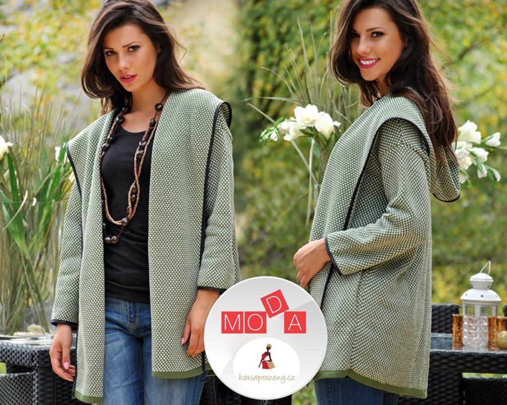 Mikina v kradigan stylu s kapucí - UNI (S-XL)  Green