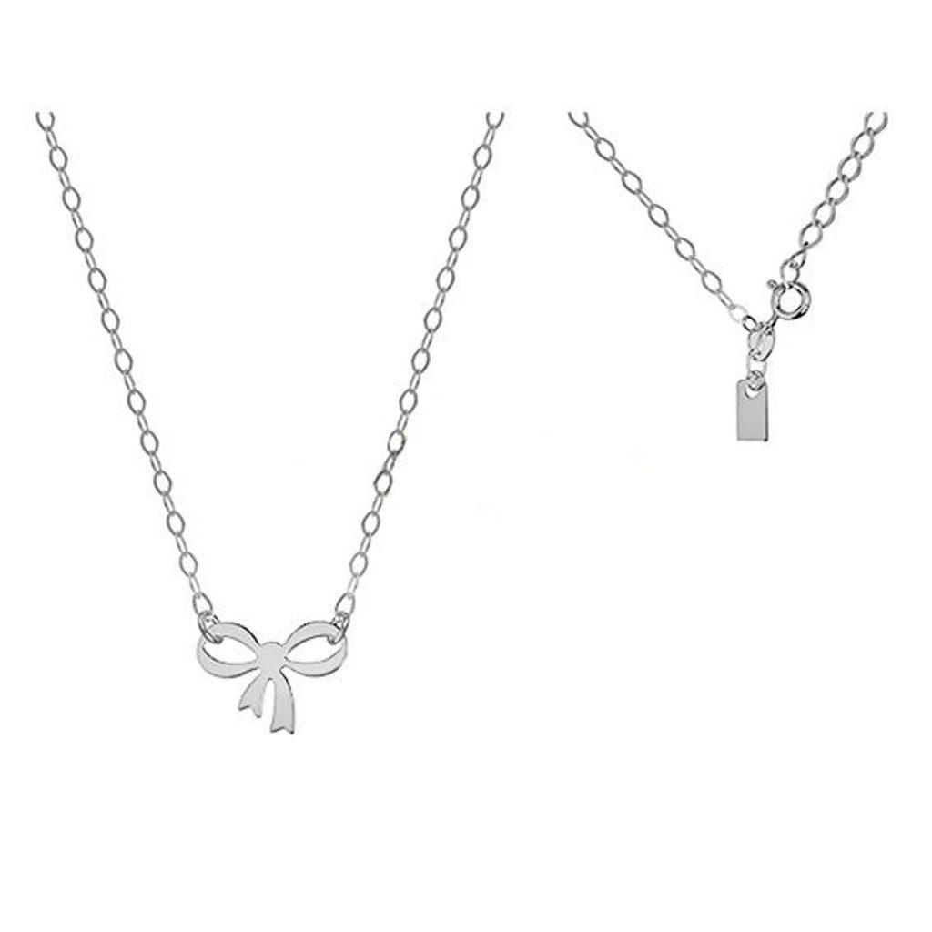 Stříbrný náhrdelník s mašličkou