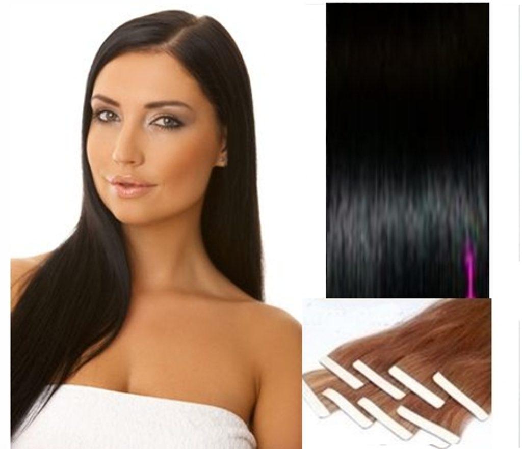 TAPEX vlasy - 100% Lidské vlasy REMY, černé